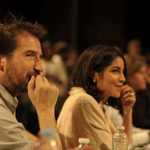 Leïla Bekhti et Edouard Baer font partie du jury lors de la finale du concours